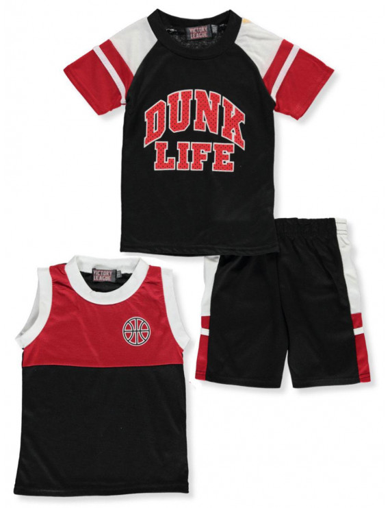 Victory League Baby Boys' Dunk Life 3-Piece Shorts Set Outfit (Infant)