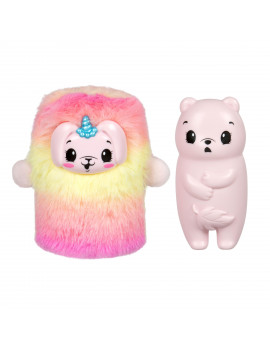 Pikmi Pops Cheeki Boutique Surprise Pack - 1pc Collectible Plush Toy and Shimmer Lip Gloss - Styles May Vary