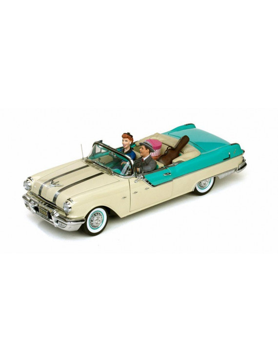 1955 Pontiac Star Chief Convertible - I Love Lucy, Blue - Sun Star 5057 - 1/18 Scale Diecast Model Toy Car