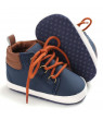 Baby Boys Sneakers Toddler Soft Soled PU Anti-Slip Lace-up Shoes 0-18M