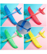 LED Hand Throw Airplane Foam Airplane Aircraft Model Hand Launch Glider Plane Soft Throw Airplanes Outdoor Sports Toys for Kids Gift