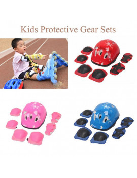 6/7Pcs Kids Protective Gear Set, Bike Knee Pads and Elbow Pads With Wrist Guards, For Children Skate Cycling Riding