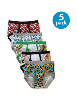 Pokémon, Boys Underwear, 5 Pack Briefs (Little Boys & Big Boys)