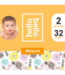 Hello Bello Diapers - Spring Blooms - Size 2 (32ct)