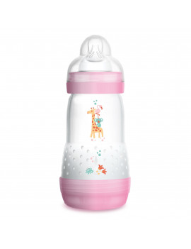 MAM Baby Bottles for Breastfed Babies, MAM Baby Bottles Anti-Colic, Girl, 9 Ounces, 1-Count