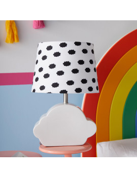 Cloud Patterned Shade with Ceramic Cloud Shaped Base by Drew Barrymore Flower Kids