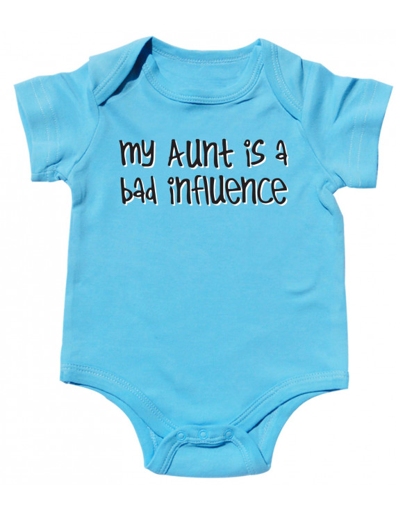Texas Tees, Aunt Baby Clothes, Aunt Onesies for Girls, Aunt Influence - Blue