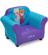 Disney Frozen Kids Upholstered Chair with Sculpted Plastic Frame by Delta Children
