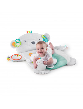 Bright Starts Tummy Time Prop & Play Activity Mat - Polar Bear