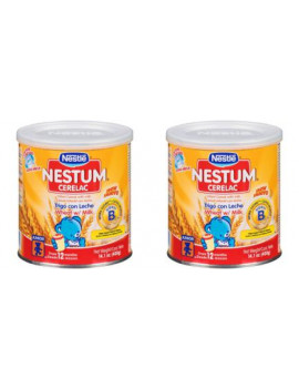 (2 Pack) Nestle Nestum Cerelac Wheat Infant Cereal with Milk 14.1 oz. Canister