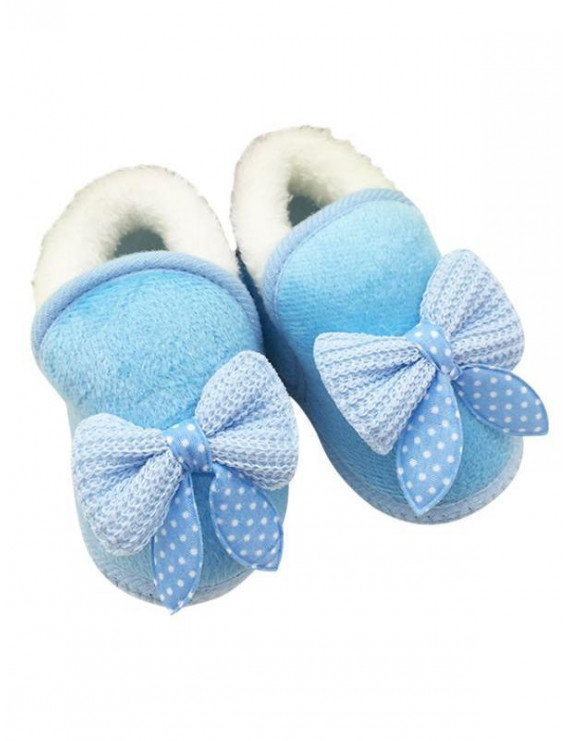 Winter Warm Baby Girls Non Slip Bowknot Snow Boots