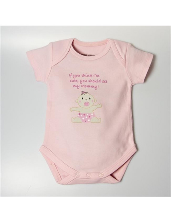 BSCASMOMLP1824 Cute As Mommy Girl Bodysuit - Pink, 18-24 Months