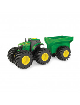 John Deere Monster Treads Lights & Sounds 8 Inch Tractor with Wagon