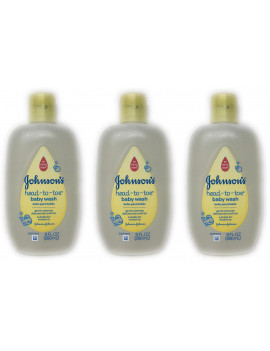 (3-Pack) Johnson's Head to Toe Baby Wash 9fl oz Bottles