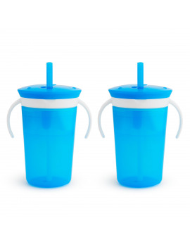 Munchkin Snack Catch and Sip, 2 Pack, Blue