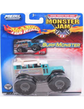 2002 1/64 hotwheels monster jam surf monster truck #10