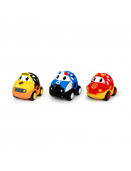 Oball Go Grippers 3-piece Emergency Push Vehicle Set, Ages 18 months +