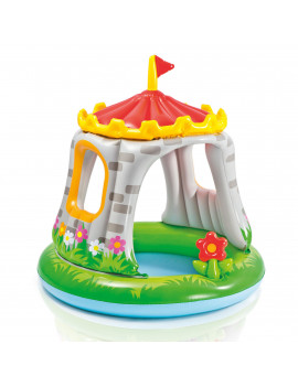 Intex 57122EP 4ft x 48in Inflatable Royal Castle Baby Pool for Kids Age 1-3
