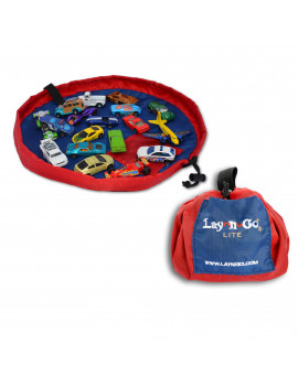"Lay-n-Go LITE (18"") : Red, Activity Play Mat, Toy Storage"