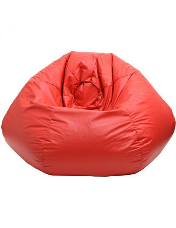 """Extra Small 84"""" Red Faux Leather Bean Bag"""