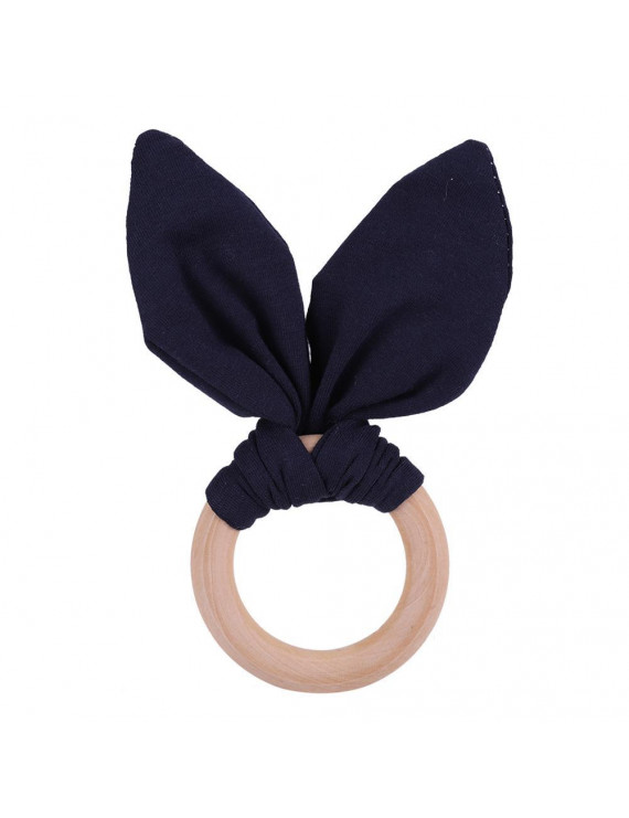 Kritne Wooden Teether,Baby Teether, Baby Infant Natural Wooden Teething Ring Lovely Bunny Rabbit Ears Teether Toy