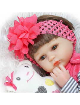 "17"" inch Reborn Newborn Baby Realike Doll Handmade Lifelike Toy Silicone Vinyl Weighted Alive Lovely Cute Dolls + Clothes"