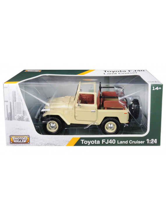 Toyota Land Cruiser FJ40 Convertible Beige 1/24 Diecast Model Car by Motormax