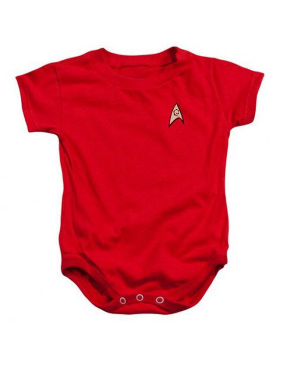 Star Trek-Engineering Uniform - Infant Snapsuit - Red, Extra Large 24 Mos
