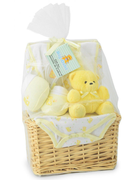 Big Oshi Baby Essentials 9 Piece Layette Basket Gift Set-Color:Yellow