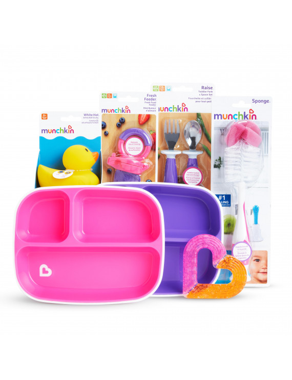 Munchkin New Beginnings Gift Basket, Pink