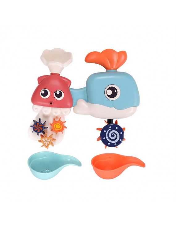 Nomeni Children's Bathroom Whal Shower Toy Baby Toy Water Spray Toy Gift Set Gift Box