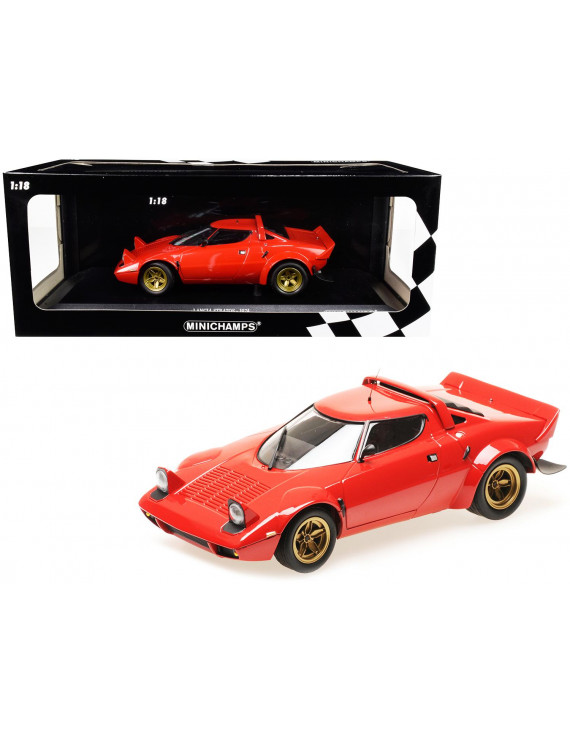 1974 Lancia Stratos Red Limited Edition to 300 pieces Worldwide 1/18 Diecast Model Car by Minichamps