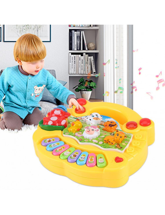 EECOO Baby Musical Educational Piano Toy Animal Farm Developmental Music Toys Kids Children Gifts Animal Sound Music Toy Kids Piano Toy