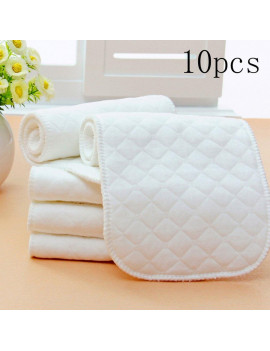 10 Pieces Reusable Babies Modern Diaper Nappy Lined Insert 3 Layers Cotton 32*12cm