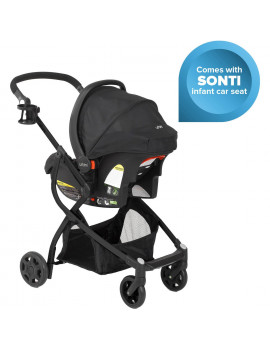 Urbini Omni Plus 3 in 1 Travel System, Black