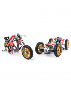 Erector by Meccano, 5-in-1 Street Fighter Bike, S.T.E.A.M. Building Kit, for Ages 10 and Up