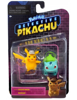 Pokemon Detective Pikachu & Bulbasaur Mini Figure 2-Pack