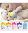 Baby Teether Silicone Mitts Teething Mitten Glove Candy Wrapper Sound Baby Teethers