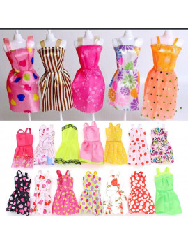 10-Pack Barbie Doll Clothes Handmade Wedding Dresses Party Gown Clothes Outfits for Girl's Birthday Gift