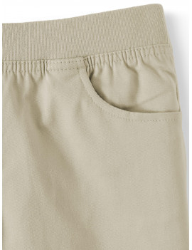 Wonder Nation Girls School Uniform Stretch Twill Pull-On Shorts, Sizes 4-16