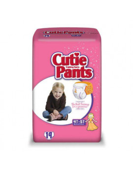 Cuties Training Pants for Girls, Size 4T-5T, 19 Count