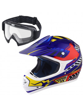 AHR DOT Youth Motocross Helmet Full Face Offroad Dirt Bike Helmet Motorcycle ATV Downhill Helmet