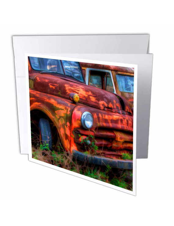 3dRose USA, Georgia, Rusty trucks, Classics, Old Car City - US11 JWL0585 - Joanne Wells, Greeting Cards, 6 x 6 inches, set of 6