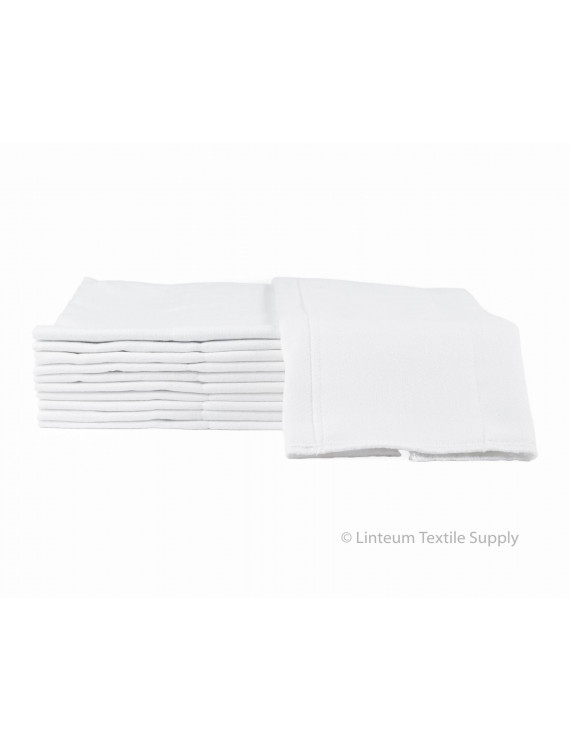Linteum Textile (12-Pack, 14x21 in.) Baby Diapers, Reusable and Washable, Prefolded Burp Cloth 2-Ply