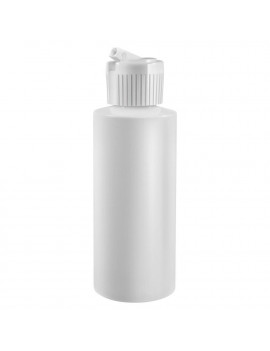 2 Oz Plastic Cylinder Bottles with Flip Top Pour Spout, Pack of 6