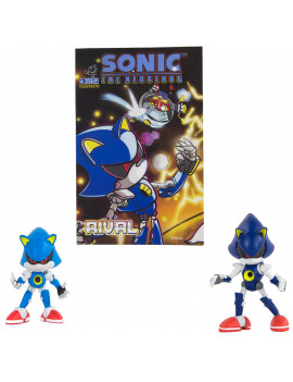 Classic Metal Sonic & Modern Metal Sonic with Comic Book| Official Licensed Product from TOMY | Includes Original Sonic Comic Book