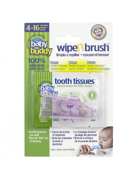 Baby Buddy Stage 3 Wipe n Finger Brush - with tooth tissues 585