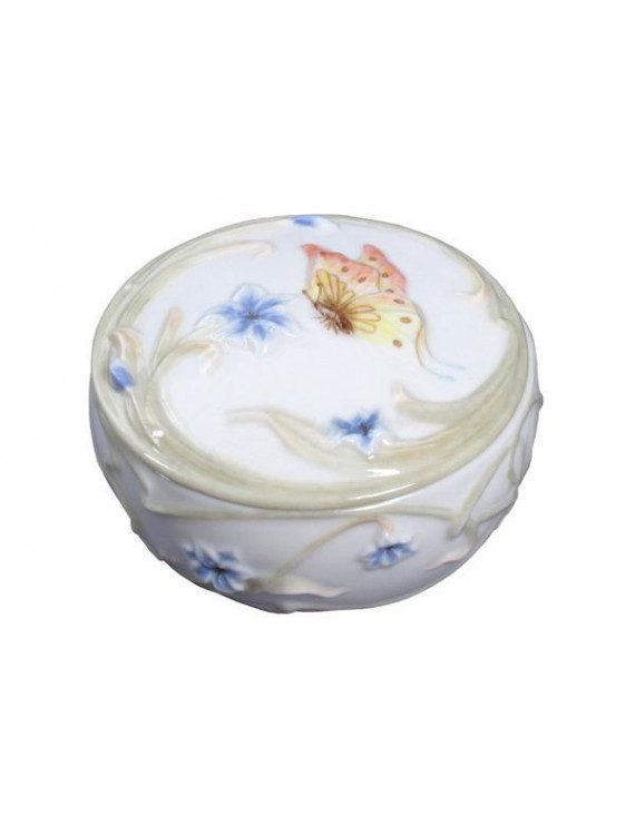 Butterfly & Blue Iris Trinket Box - Trinket box