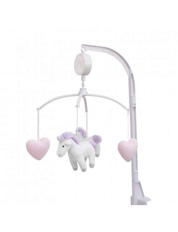 Unicorn Snuggles Musical Mobile with Unicorns and Hearts by Carters