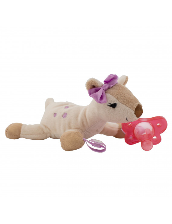 Dr. Brown's Lovey Pacifier and Teether Holder, 0m+, Deer with Pink Pacifier